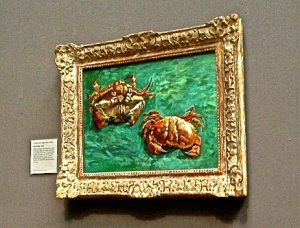 Van Gogh's crab (My friend sneaked to take a photo even if it was not allowed!)