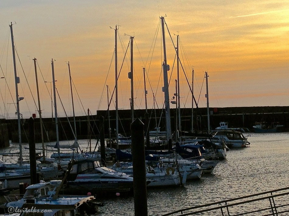 Yachts along the harbor