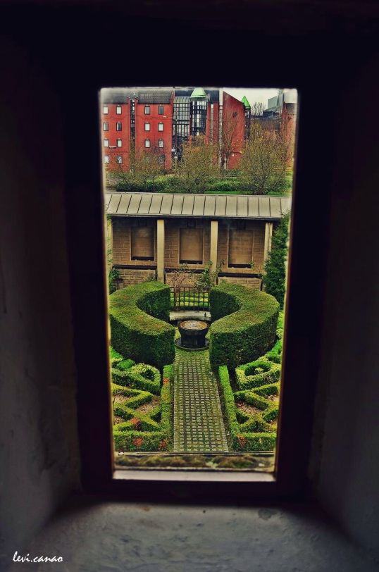By the window into the Garden in Provand's Lordship Museum, Glasgow
