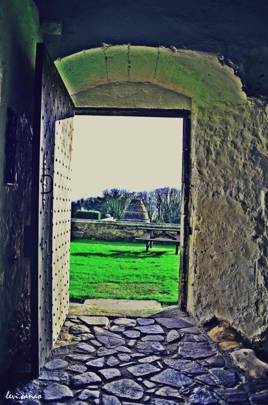 Aberdour Castle Overlooking the Terraced Garden