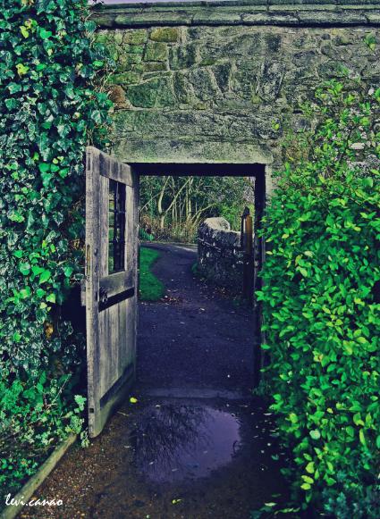 South Exit of the Aberdour Castle Garden