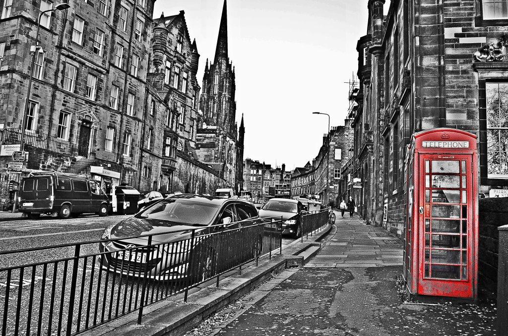 Near Castle Rock in Edinburgh