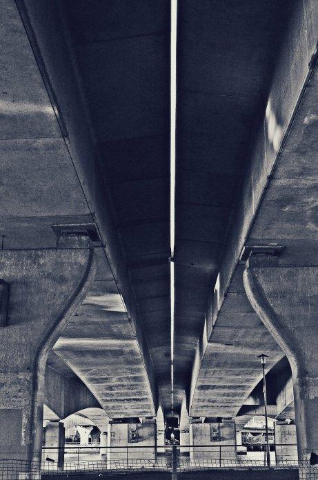 Taken under a bridge in Glasgow, Scotland.