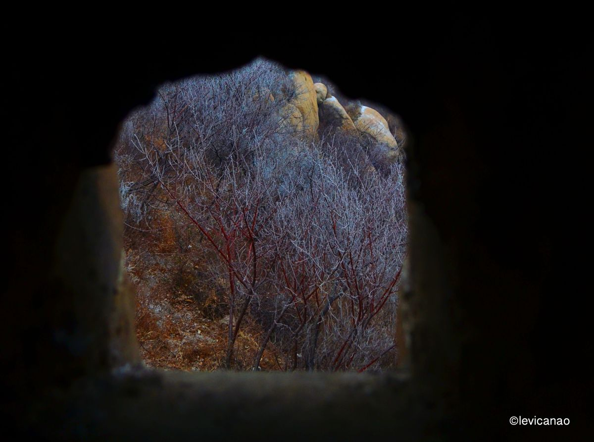 A peek in one of the holes